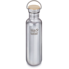 Klean Kanteen Reflect Drinkfles Bamboo Cap 800ml, mirrored stainless